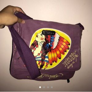 Ed hardy purple Native American women bag🌸